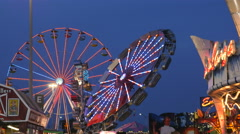 Rides In Motion At State Fair Stock Footage