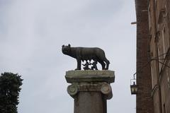 The Capitoline wolf and twins - stock photo