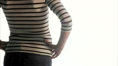 A pregnant woman, Sweden. Stock Footage