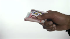 Paying money, Sweden. Stock Footage