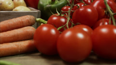 Fresh vegetables, Sweden. Stock Footage