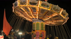 Carousel In Motion Stock Footage