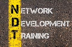 Concept image of Business Acronym NDT as Network Development Training - stock photo