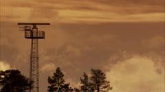 Radar at airport, Arlanda, Sweden. Stock Footage