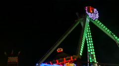 NJ Fair Fire Ball Ride In Motion - stock footage