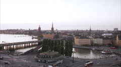 View of Slussen, Stockholm, Sweden. Stock Footage