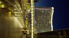 Vdara Hotel and Casino on Harmon Ave. early Evening Stock Footage