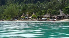 Shot Taken from speed boat, Trang, Thailand - stock footage