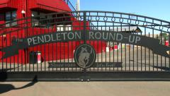 Pendleton Round-Up Rodeo Arena, 4K - stock footage