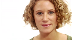 Portrait of a young woman, Sweden. Stock Footage