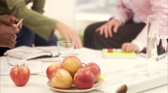 Three colleagues during a meeting, Sweden. Stock Footage