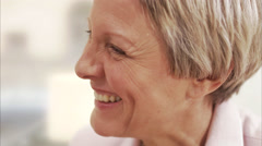A smiling middle aged woman, Sweden. Stock Footage