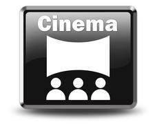 Icon, Button, Pictogram Cinema Stock Illustration