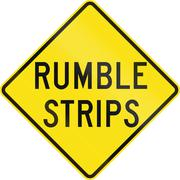 Rumble Strips in Australia Stock Illustration