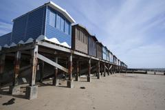Beach Huts, Frinton, Essex, England Kuvituskuvat