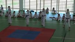 Karate Kids - demonstration 2/2 Stock Footage