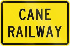 Cane Railway In Australia Stock Illustration