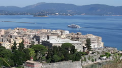 Kerkyra old Corfu town Greece Stock Footage