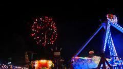 State Fair Fireworks Stock Footage