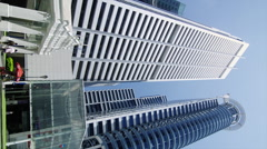 High Rising Buildings on Raffles Place Stock Footage
