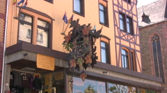Shop with cuckoo clock outside in St Goar - stock footage