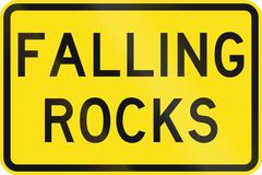 Falling Rocks in Australia Stock Illustration