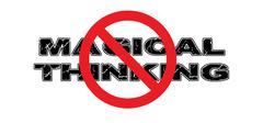Ban Magical Thinking - stock illustration
