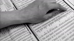 Stock exchange list in a paper. Stock Footage