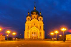 Saviour Transfiguration Cathedral in the evening - stock photo