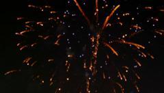 Defocused Fireworks Display - stock footage