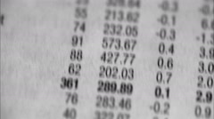Searching and reading a table of stock-exchange rates. Stock Footage