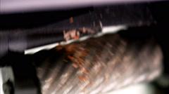 Sharpen a pencil using a pencil-sharpener. Stock Footage