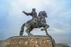 Monument to Empress Elizabeth Stock Photos
