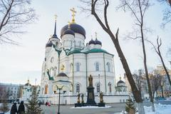 The Annunciation Cathedral - the temple of the Russian Orthodox Church - stock photo