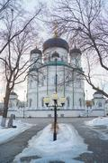 The Annunciation Cathedral - the temple of the Russian Orthodox Church Stock Photos