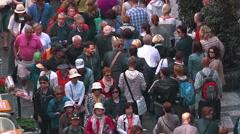 Prague Tourists Walking in Groups Stock Footage