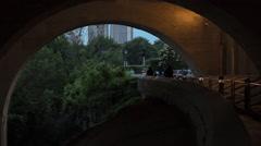 Bridge walkway Stock Footage