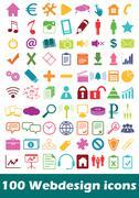 Stock Illustration of Simple webdesign icon set