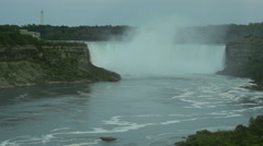 Niagara horseshoe falls wide Stock Footage