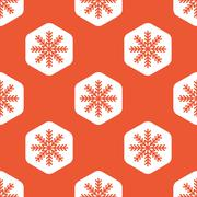 Stock Illustration of Orange hexagon winter pattern