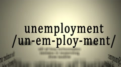 Definition: Unemployment - stock footage