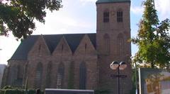 Evangelical Church St. Peter in Dortmund, tilt up. Petrikirche Stock Footage