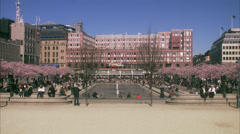 Kungstradgarden in spring, Stockholm, Sweden. Stock Footage