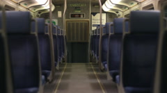 Empty train seats Stock Footage