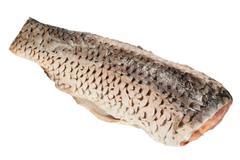 carp on white background - stock photo