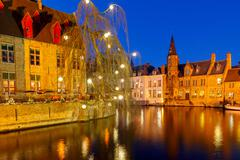 Christmas in Bruges. - stock photo
