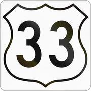 Nova Scotia Trunk Highway 33 - stock illustration