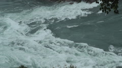 White water rapids seen from above Stock Footage