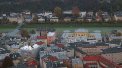 City of Salzburg / Shot from the fortress Stock Footage