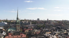 View of Stockholm, Sweden. Stock Footage